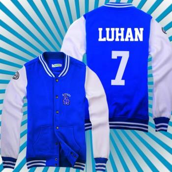 EXO WOLF Every Member Korean Navy Blue Baseball Uniform