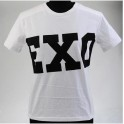 NEW Unisex EXO SBS Miracles White Cotton T-Shirt High Quality SEHUN KAI Chanyeol LUHAN KRIS