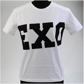 NEW Unisex EXO SBS Miracles White Cotton T-Shirt High Quality SEHUN KAI Chanyeol LUHAN KRIS