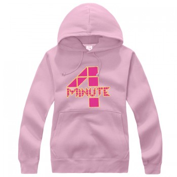 4MINUTE Logo Pink New Fashion Special Sweater Pullover Hoodie Mixed