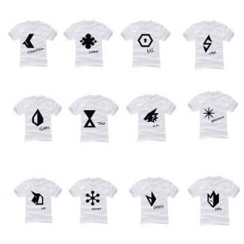 EXO New Album OVERDOSE 12 Member LOGO White High Quality Cotton T-shirt