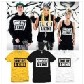 BIG BANG One Of a Kind women & men Cotton Loose Big Yards Short Sleeve T-shirt