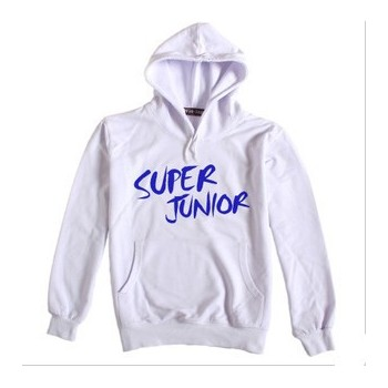 SUPER JUNIOR SUJU WHITE Hoodie