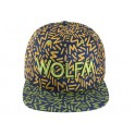 EXO WOLF M WOLF Embroidery Hip-Hop Hippie Wolf hat