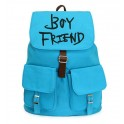Boy Friend Canvas backpack leisure style