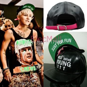 Bigbang GD/G-dragon Baseball Cap Wild & Young Just For Fun Snapback Hat Hiphop Hat