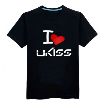 U-KISS ukiss summer O-neck t-shirt 100% cotton with red loving heart