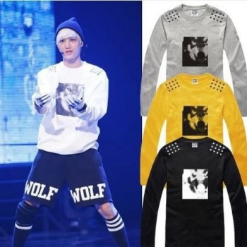 Exo Wolf Printed long sleeve t-shirt