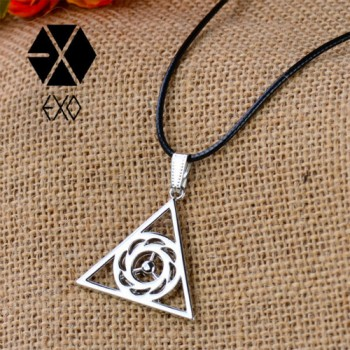 2014 New Arrival Leather Cord alloy necklaces,South Korean Popular Combination EXO LUHAN KRIS TAO SE HUN fashion necklaces