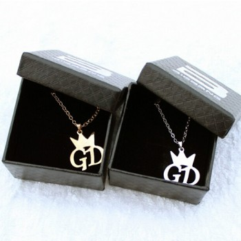 Lovers gift belt packaging box gd letter necklace bi for gba ng necklace g-dragon accessories