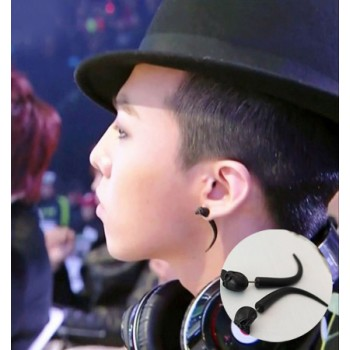 Bigbang G-dragon black ox horn earrings ear stud high quality 2pcs