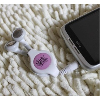 KPOP SNSD Girls' Generation pink stereo earphone headset for mobile phone/cellphone /MP3/ MP4 /computer