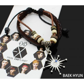2014 HOT KPOP EXO Member adjustable leather bracelets Combination EXO LU HAN,KRIS CHAN,YEOL,CHAN YEOL,KAI,TAO,SE HUN bracelets