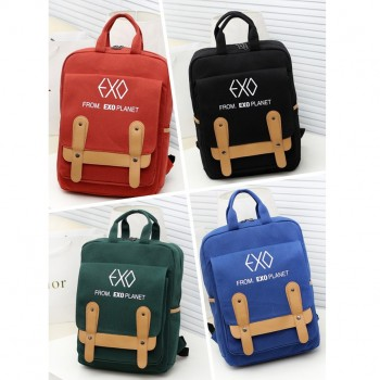 EXO schoolbag BACKPACK knapsack high quality black red blue green colors