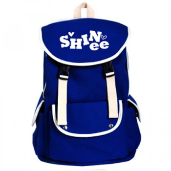 shinee canvas korean BACKPACK yellow/red/blue/pink colors knapsack