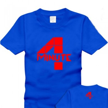 4minute 100% cotton short-sleeve T-shirt should aid the hot-selling 5
