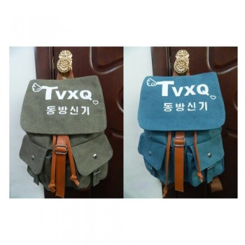 TVXQ Vintage PUNK Rock Canvas Backpack with Hangeul