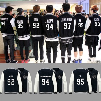 KPOP NEW Sale BTS Bangtan Boys A.R.M.Y Fashion Good Quality Baseball Uniform