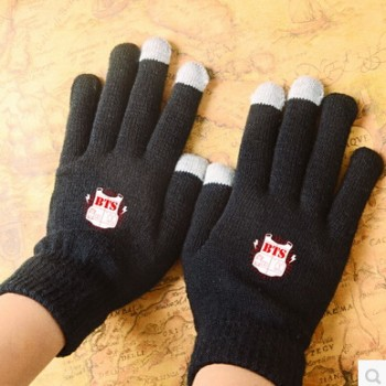KPOP BTS Touch Screen Stretchy Soft Warm Winter Gloves For Mobile Phone