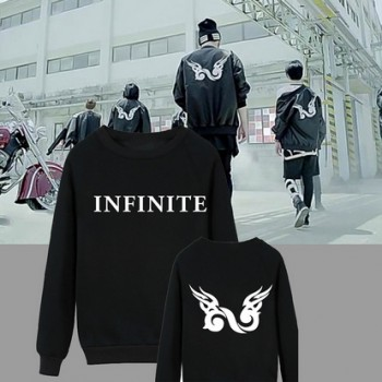 Kpop Free Shipping Infinite Back Cotton Sweater Good Quality