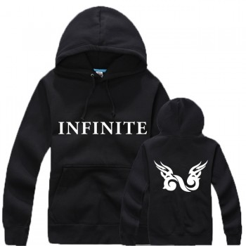 KPOP New INFINITE BACK Black Popular Cotton Sweater Pullover