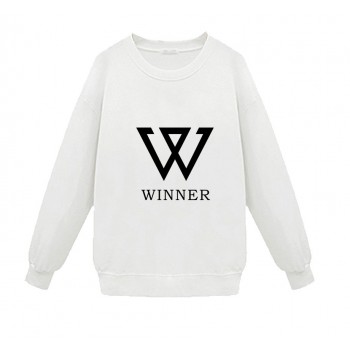 KPOP Hot Sale WINNER WEEK New Fashion Supporting Cotton Pullover Sweater White Black Two Colors