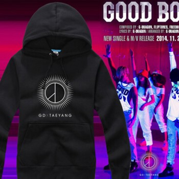 KPOP BIGBANG GD TaeYang Black And White Cotton Pullover Sweater Hoodie