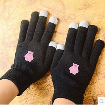 KPOP SMTOWN Touch Screen Stretchy Soft Warm Winter Gloves For Mobile Phone