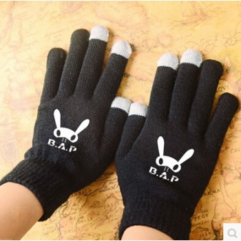 KPOP BAP B.A.P Touch Screen Stretchy Soft Warm Winter Gloves For Mobile Phone