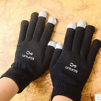 KPOP INFINITE Touch Screen Stretchy Soft Warm Winter Gloves For Mobile Phone
