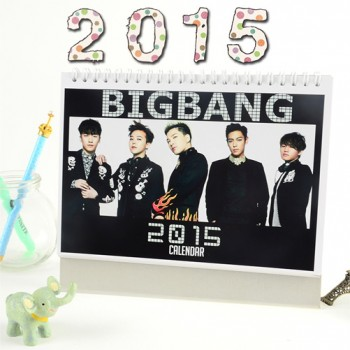BIGBANG 2015 Table Calendar With Exquisite Pictures 20.5*14cm Horizontal Version