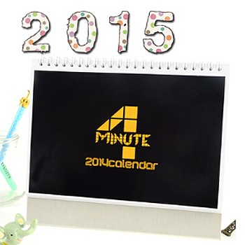 4Minute 2015 Table Calendar With Exquisite Pictures 20.5*14cm Horizontal Version