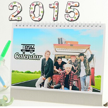 B1A4 2015 Table Calendar With Exquisite Pictures 20.5*14cm Horizontal Version