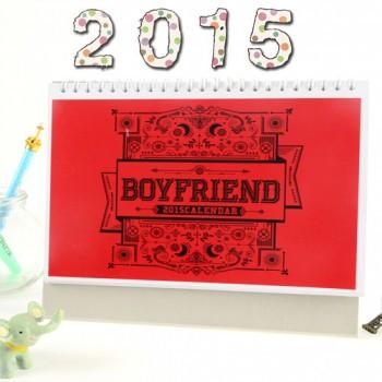 BOYFRIEND 2015 Table Calendar With Exquisite Pictures 20.5*14cm Horizontal Version