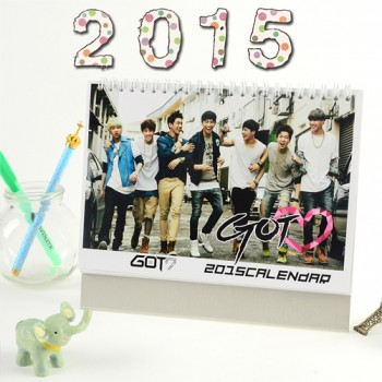 GOT7 2015 Table Calendar With Exquisite Pictures 20.5*14cm Horizontal Version