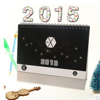 2015 EXO OVERDOSE Fine Table Calendar With Exquisite Pictures 20.5*14cm Horizontal Version