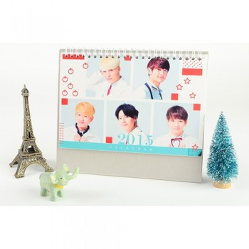 2015 SHINEE Table Calendar With Exquisite Pictures 20.5*14cm Horizontal Version