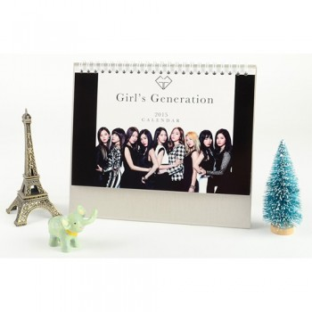 2015 SNSD GIrls Generation GG Table Calendar With Exquisite Pictures 20.5*14cm Horizontal Version