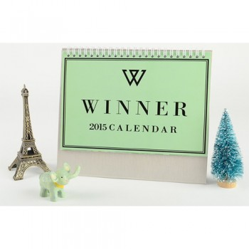 2015 WINNER Table Calendar With Exquisite Pictures 20.5*14cm Horizontal Version