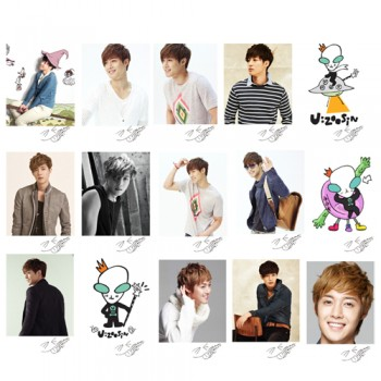 SS501 Kim Hyun Joong Retro LOMO Card 20 Photos With 1 Iron Box And 10 Heart Shape Clips