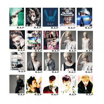 BAP B.A.P Retro LOMO Card 20 Photos With 1 Iron Box And 10 Heart Shape Clips