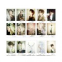 Super Junior SJ Retro LOMO Card 40 Photos With 1 Iron Box And 20 Heart Shape Clips