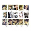 EXO Collective Retro LOMO Card 40 Photos With 1 Iron Box And 20 Heart Shape Clips