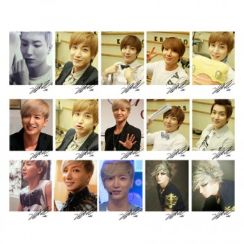 SJ Super Junior Ritter SungMin Personal LOMO Card 20 Photos With 1 Iron Box And 10 Heart Shaped Clips