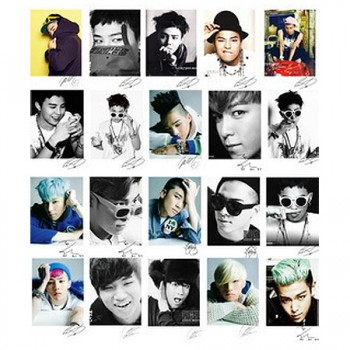 BIGBANG BIG BANG Collective LOMO Card 40 Photos With 1 Iron Box And 10 Heart Shape Clips