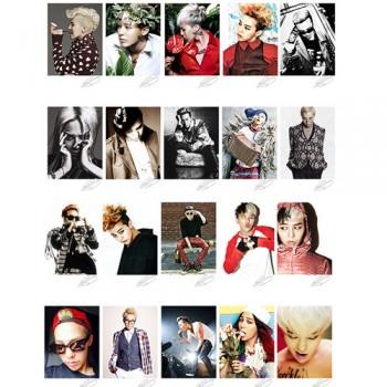 BIGBANG GD G-Dragon Individual LOMO Card 20 Photos With 1 Iron Box And 10 Heart Shape Clips