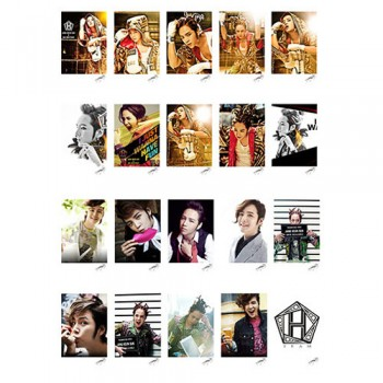 Jang Keun Suk TEAM H Retro LOMO Card 20 Photos With 1 Iron Box And 10 Heart Shape Clips