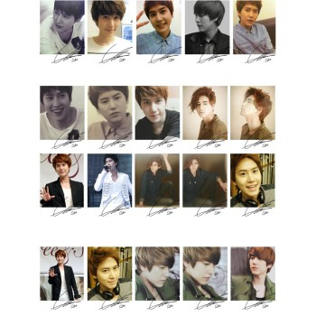 SJ Super Junior Kyuhyun Individual Korean Fashion LOMO Card 20 Photos With 1 Iron Box And 10 Heart Shape Clips