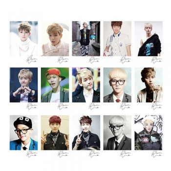 EXO BAEKHYUN Personal EXO XOXO WOLF GROWL LOMO Card 20 Photos With 1 Iron Box And 10 Heart Shaped Clips