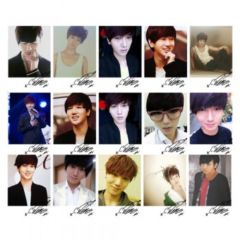 SJ Super Junior Yesung Individual LOMO Card 20 Photos With 1 Iron Box And 10 Heart Shape Clips